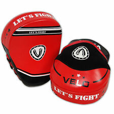 VELO Curved Focus Pads Mitts,Hook and Jab Punching Kick Boxing Muay Thai MMA UFC