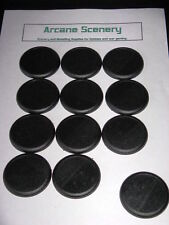 50mm Round bases slotted with lip