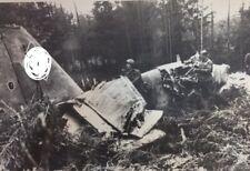 World War II Photo destroyed German plane near Kiev 1941 Large format