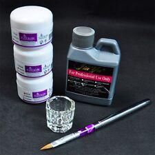 Acryl Pur Pulver ar Wei?Rosa+ Acryl Liquid Flsieit Pinsel Nagel Set S@
