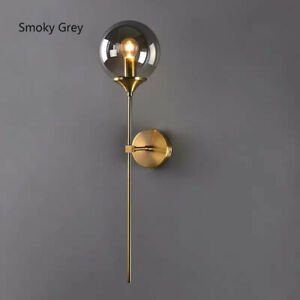 Colourful Glass Round Shade Gold Brass Porch Wall Lights Bedroom Sconces Fixture