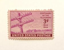 1944 3-Cent US Stamp Centenary of the Telegraph Issue