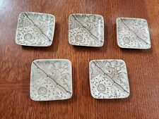 Atq Lot of 5 Brown Aesthetic Transferware Butter Pat Gildea & Walker Melbourne
