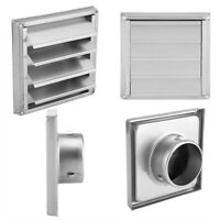 100mm Stainless Wall Air Vent  Tumble Dryer Extractor Fan Outlet -Silver