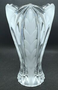 Vintage Mid Century 5.5 in Beyer Novelette Lead Crystal Glass Vase West Germany