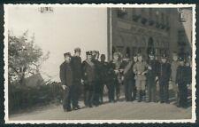 WWI Old Postcard Schönau/Schlesien Gasthof zum Overberg 1936 + Police, Offiziere