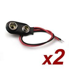 2 Conectores Pila Bateria 9 Voltios★2 pcs connectors 9V Battery Clip Snap PP6