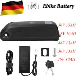 E-Bike Pedelec Elektrofahrrad Li-ion Accu Batterien Akku + Halterung Ladegerät