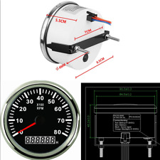 1X Universal Car Marine RPM Tachometer Gauge Hour Meter LCD Tacho Red Backlit