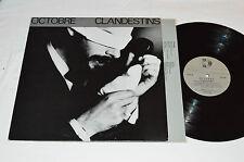 OCTOBRE Clandestins LP 1980 Kebec-Disc QUEBEC PROG ROCK ALBUM French VG+/VG+