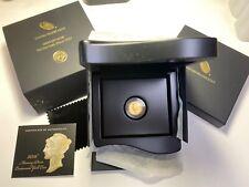 US 2016-W  Mercury Dime Centennial 1/10 oz .9999 GOLD COIN - UNC in BOX with COA