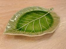 Keramik Teller Blatt Dekoration Schale Wohnaccessoires Handgearbeitet 25 cm