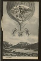 Germany Mechanical Balloon Photo Card, Neat item, Schliersee, side wheel moves