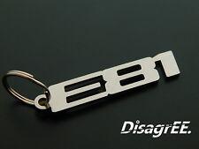 """Schlüsselanhänger """"E81"""" 1er 116 118 120 125 130 135 i Edelstahl glänzend"""