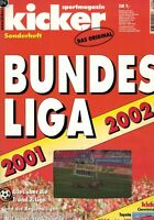 Magazin kicker Sonderheft - Bundesliga Saison 2001/02,2002,Stecktabelle,Bayern M