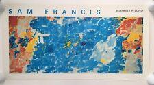 SAM FRANCIS,'BLUENESS I IN LOVELY' MEGA RARE 1990 ART PRINT