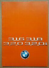 1975 BMW 316, 318,320 & 320i original sales brochure