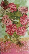 *C.R.Gibson Set of 16 Guest Towels Buffet Paper Napkins ~Hydrangea~Pink Beauties