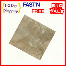 Light Marble Vinyl Tile Self Adhesive Peel & Stick Flooring Stunning High Gloss