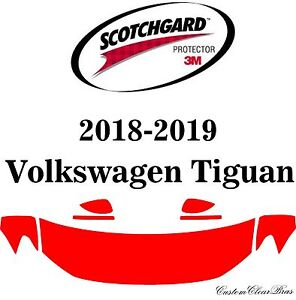 3M Scotchgard Paint Protection Film Clear Pre-Cut 2018 2019 Volkswagen Tiguan