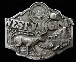 WEST VIRGINIA STATE BELT BUCKLE BEAUTIFULLY DETAILED