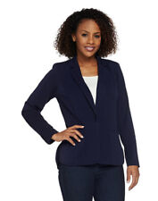 Linea by Louis Dell'Olio Solid Blazer with Button Closure A273302 2X Navy $69.50