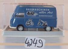 Brekina 1/87 Nr. 32603 Volkswagen VW T1b Hochdach-Kasten Baumaschinen OVP #4249