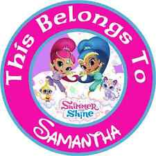 24 Personalized SHIMMER and SHINE Property Stickers for school books NAME LABELS