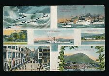 HONG KONG US Navy USS Monterey Shipping M/view c1900/10s? PPC