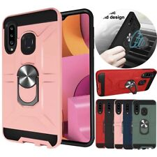 For Samsung Galaxy A20S Shockproof TPU Hard Case Magnetic Ring Stand Phone Cover
