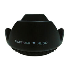 Black 49mm Flower Shape Petal Lens Hood for Canon Nikon Sony Pentax DSLR Camera