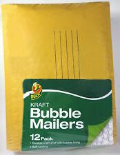 Duck Brand Kraft Bubble Mailers 0 6 X 9 Self Sealing 12 Pack