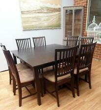 Solid Wood Dining Furniture Sets with 9 Pieces