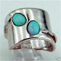 Hadar Designers Handmade Unique Sterling Silver Opal Ring 6,7,8,9,10 (H 1006