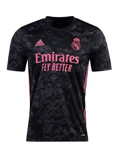Adidas Real Madrid 3rd Kit 20-21 soccer jersey Black Pink Size 2XL Men's NWT
