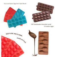 Easter Silicone Eggs Chocolate Cake Soap Mold Baking Ice Tray Mould UK