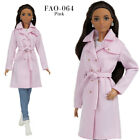 FAO-064 jeans pink trench T-shirt outfit for Barbie MTM and similar 12''dolls