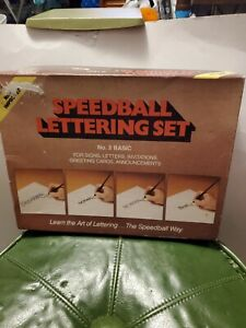 SpeedBall Lettering Set