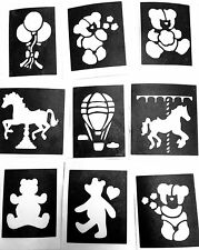 Glitter Tattoo stencils Teddy Carousel 3 part midi 4-7cm facepainting Airbrush