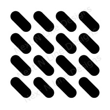 Oval Pattern Stencil, Oval, Wall Stencil ,Mylar Stencil, Reusable, Painting Sten