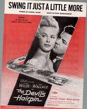 Swing It Just A Little More 1957 Cornel Wilde The Devil's Hairpin Sheet Music