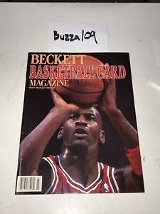 Beckett Issue #1 March April 1990 Michael Jordan Ewing Basketball Card Magazine