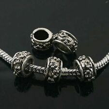8pcs Tibetan Silver animal spacer Beads Fit European Bracelet L0016