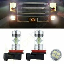 2x Ultra H11 Cree LED 12 SMD Light HID Bulbs DRL Daytime Lamps US Free Ship