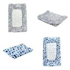2Pcs Changing Pad Covers Knit Change Mat Covers for Girls Boys