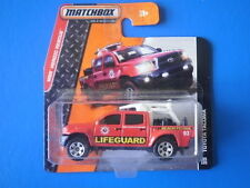 2014 Matchbox 2015 TOYOTA TACOMA LIFEGUARD pick-up/utility on mint short card!