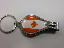CANADIAN FLAG ON NAIL CLIPPER WITH FILE & BOTTLE OPENER AND KEYRING CANADA