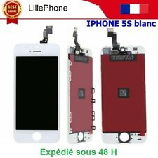 BLOC COMPLET ASSEMBLÉ VITRE TACTILE + ECRAN LCD RETINA IPHONE 5S BLANC