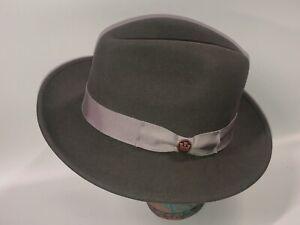 """GOORIN BROS """" Dean the Butcher """" Dark Gray""""  100% Wool Hat Fedora  M NEW"""