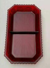 New Avon 1876 Cape Cod Ruby Red Condiment-Relish Dish